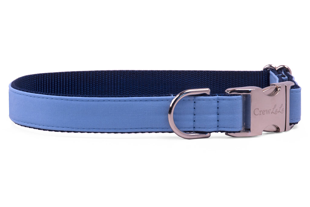 Tar Heels Blue on Navy Dog Collar