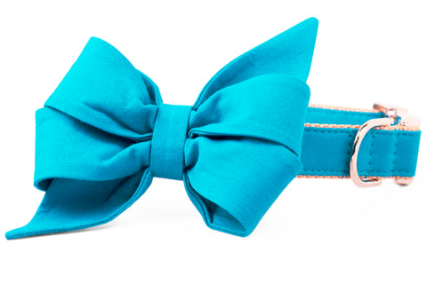Caribbean Belle Bow Dog Collar