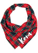 Crew's Plaid Dog Bandana