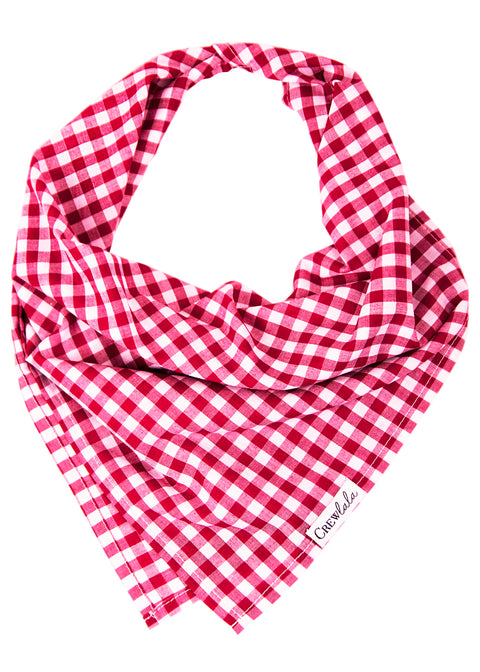 Crimson Check Dog Bandana