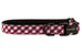 Gamecock Black on Crimson Check Belle Bow Dog Collar