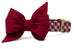 Alabama Crimson on Crimson Check Belle Bow Dog Collar