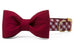 Alabama Crimson on Crimson Check Bow Tie Dog Collar