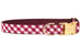 Crimson Picnic Plaid Belle Bow Dog Collar