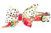 Dalmatian Bouquets Belle Bow Dog Collar - Two Styles!