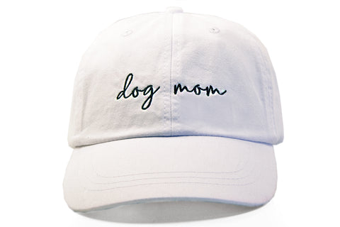 White Dog Mom Hat