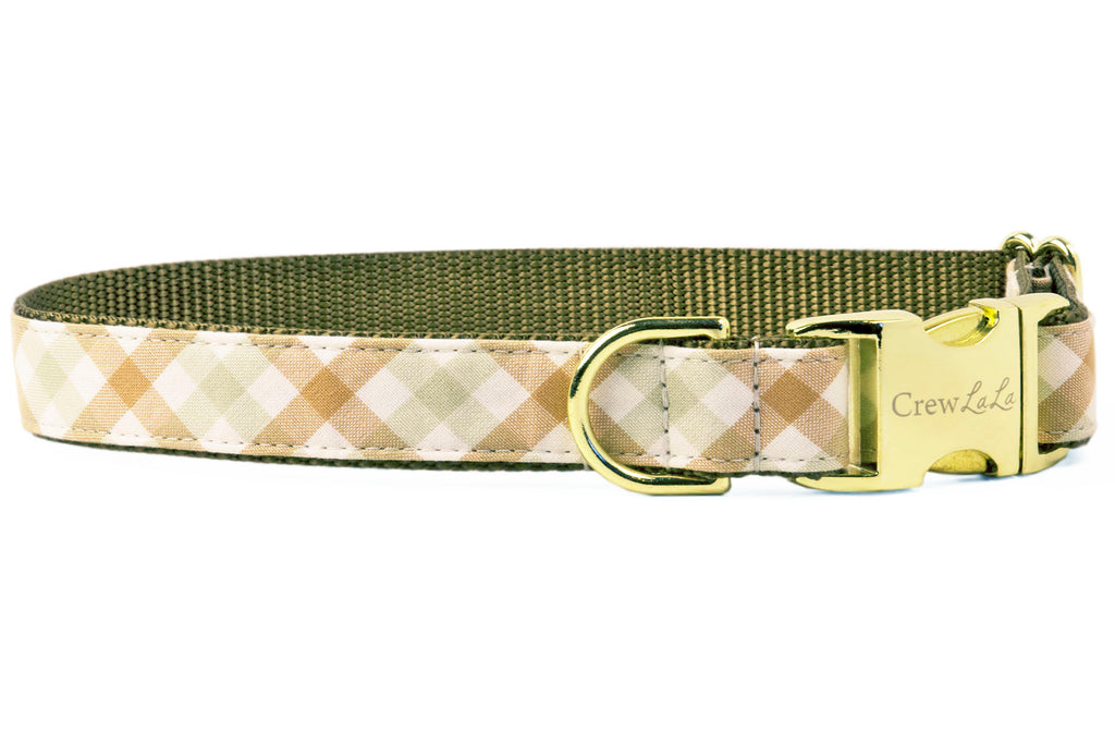 Dunes Check Dog Collar