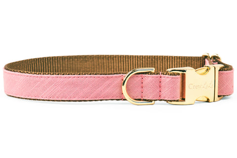 Dusty Rose Linen Dog Collar
