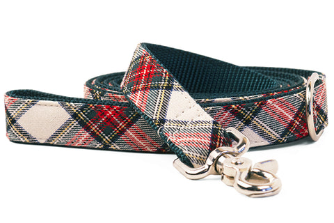 Ellie's Plaid on Green Matching Leash