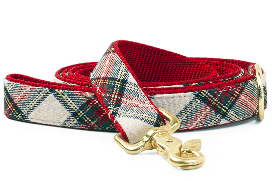Ellie's Plaid on Red Matching Leash