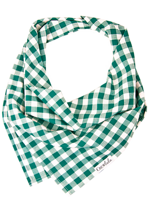 Emerald Check Dog Bandana