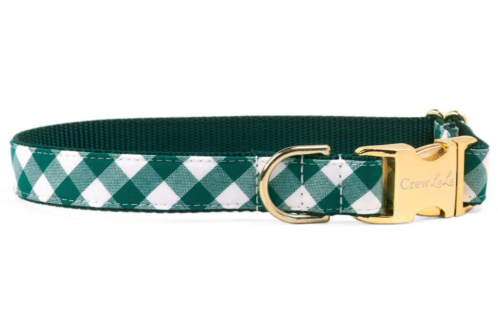 Emerald Check Dog Collar