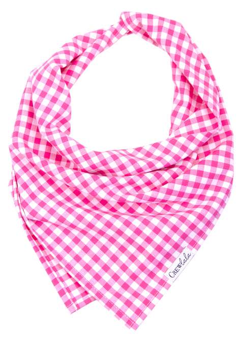 Fuchsia Picnic Plaid Dog Bandana