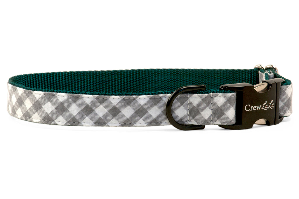 Eagles Silver Check on Green Dog Collar