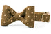 Ivory Dot on Olive Bow Tie Dog Collar