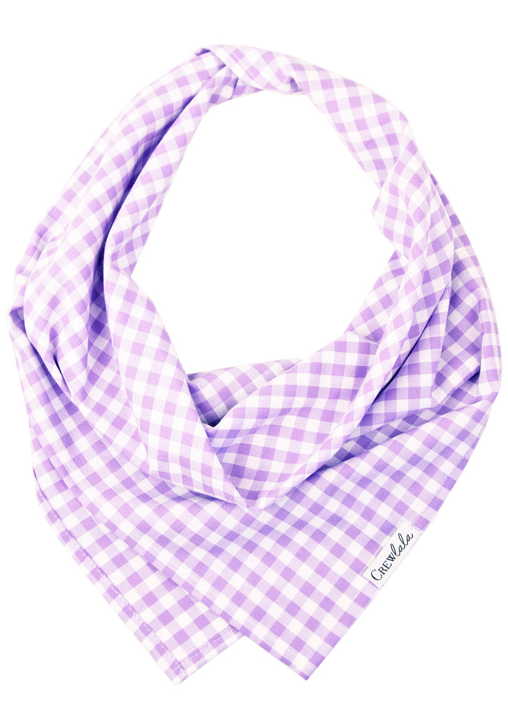 Lavender Picnic Plaid Dog Bandana
