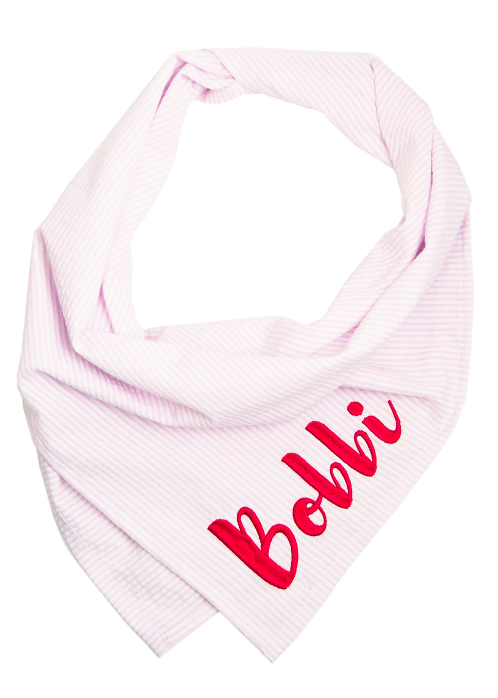 Light Pink Seersucker Dog Bandana