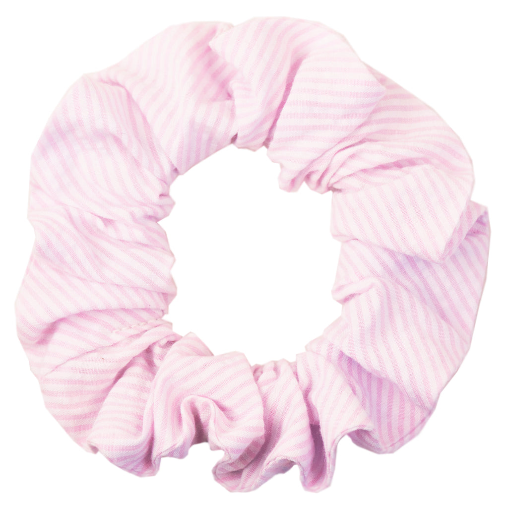 Light Pink Seersucker Scrunchie