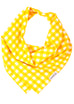 Mustard Check Dog Bandana