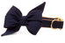 Navy Blue Belle Bow Dog Collar