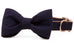 Navy Blue Bow Tie Dog Collar