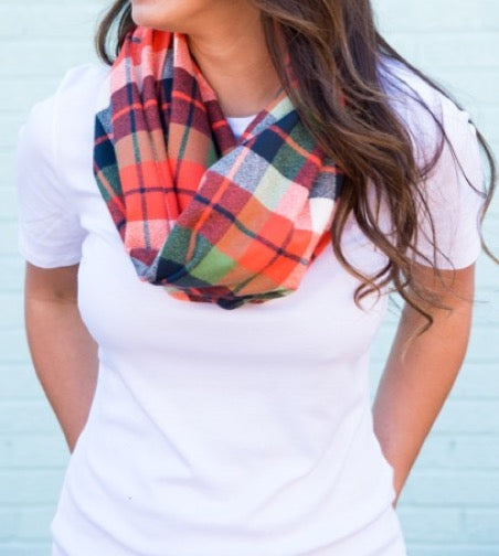 Plaid flannel scarves Infinity Adventure Plaid Flannel Womens Infinity Scarf Epic Sports Soccer Crew Lala Adventure Plaid Flannel Womens Infinity Scarf