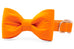 Orange Bow Tie Dog Collar