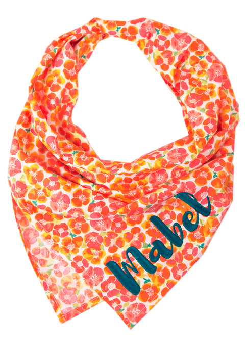 Peach Primrose Dog Bandana