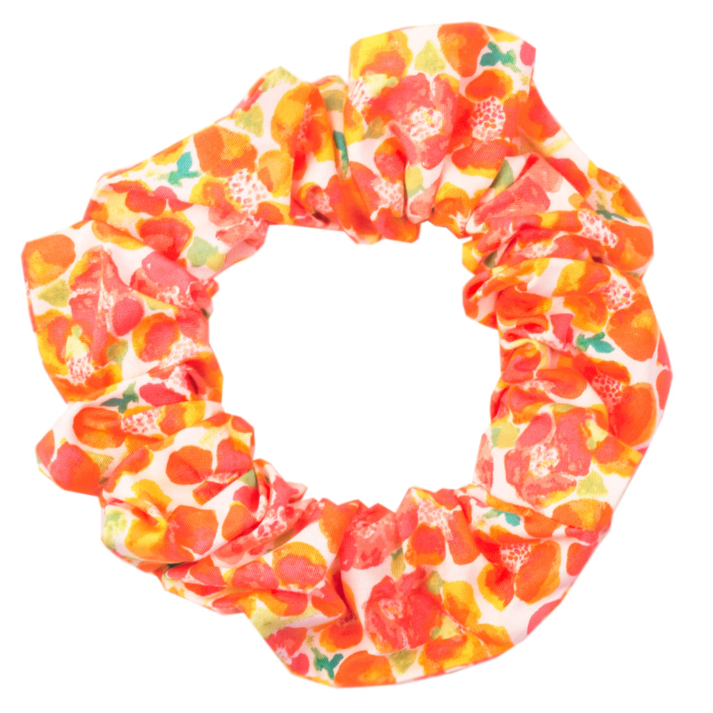 Peach Primrose Scrunchie