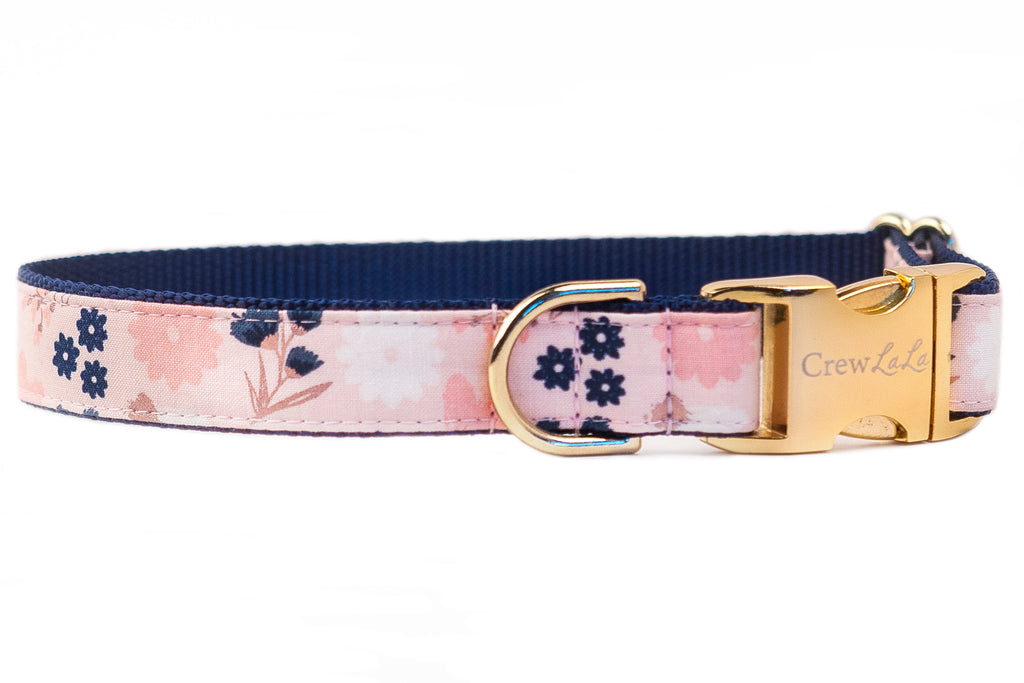 Indigo Blooms Dog Collar