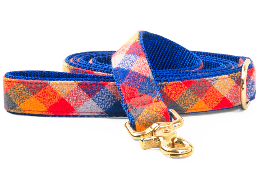 Sunset Flannel Matching Leash