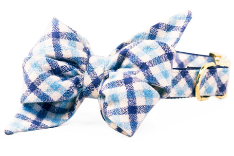 Ralph Flannel Belle Bow Dog Collar