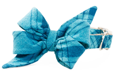 Gus Flannel Belle Bow Dog Collar