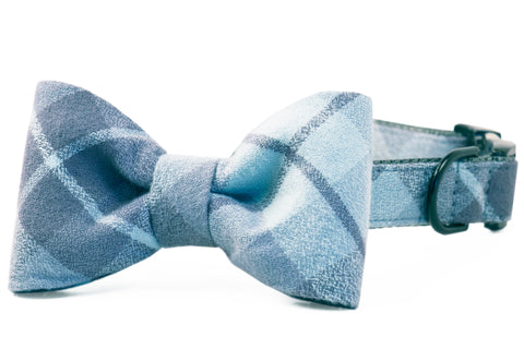 Grey's Flannel Bow Tie Dog Collar