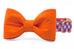 Clemson Orange on Purple Check Bow Tie Dog Collar