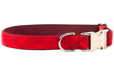 Clifford Flannel Dog Collar