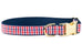 Red, White & Blue Gingham Bow Tie Dog Collar