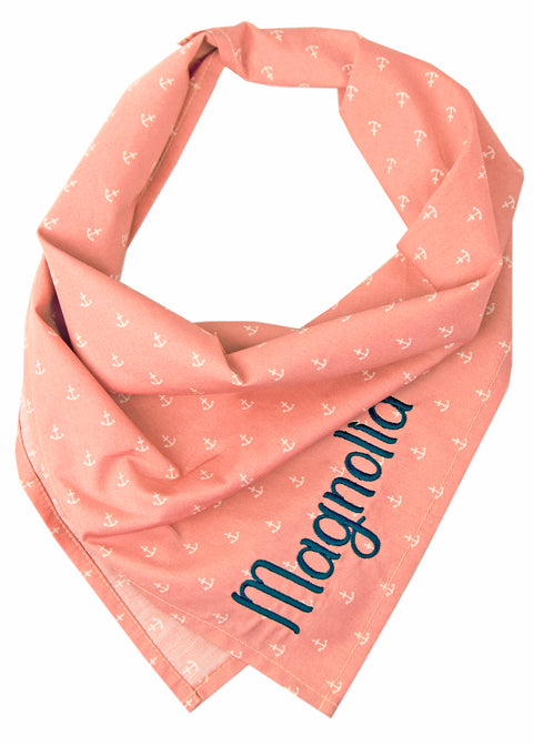 Rose Anchors Dog Bandana