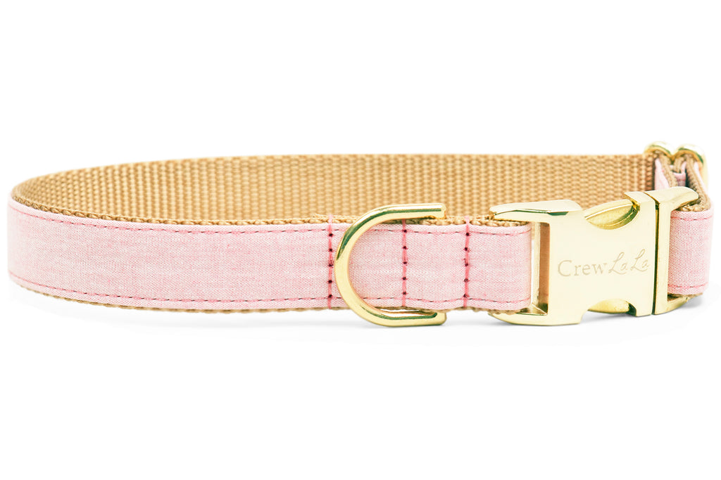 Rose Water Linen Dog Collar