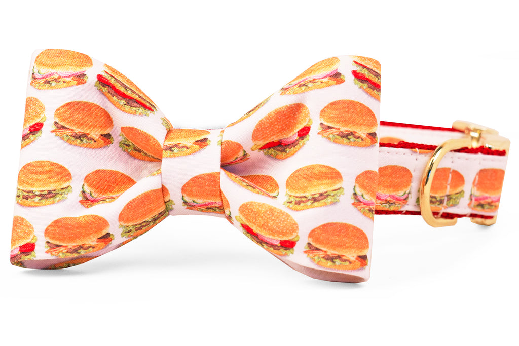 Royale with Cheese Bow Tie Dog Collar