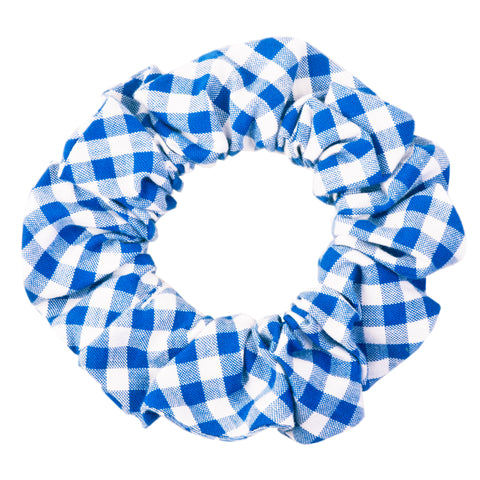 Royal Blue Picnic Plaid Scrunchie
