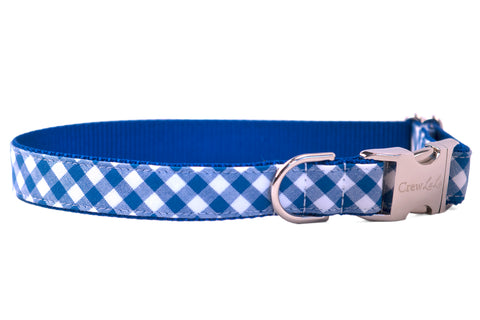 Royal Blue Picnic Plaid Dog Collar