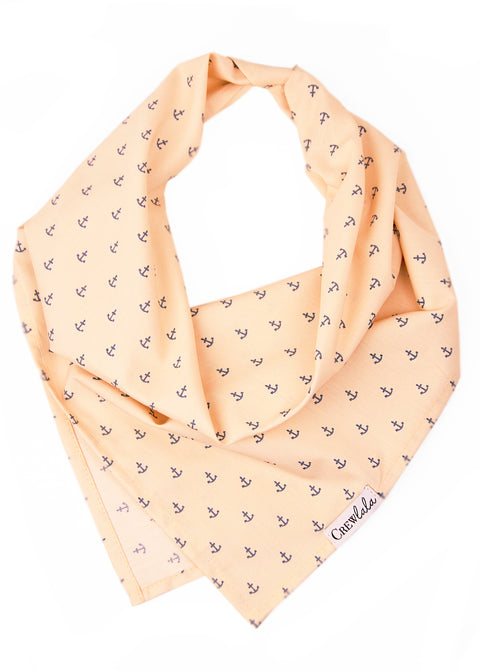 Sandy Anchors Dog Bandana