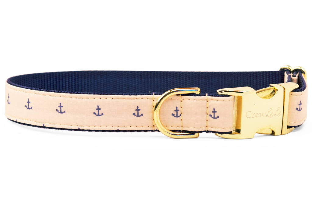 Sandy Anchors Dog Collar