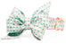Mint Strawberries Belle Bow Dog Collar