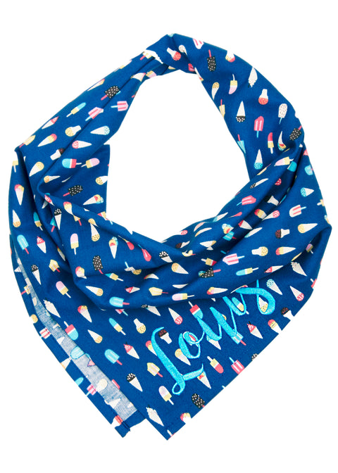 Summer Scoops Dog Bandana