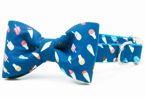 Summer Scoops Bow Tie Dog Collar