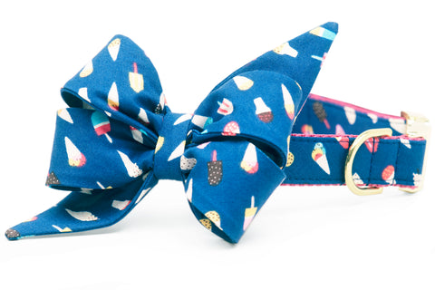 Summer Scoops Belle Bow Dog Collar