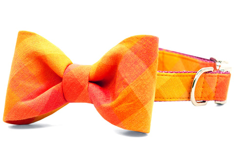 Sunrise Plaid Bow Tie Collar