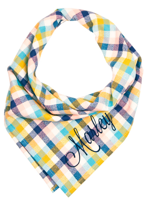 Sun Valley Flannel Dog Bandana